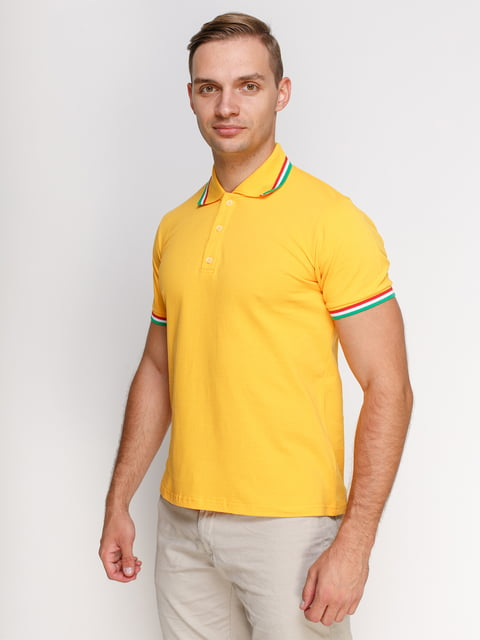 Футболка-поло жовта PrintOff 4768952