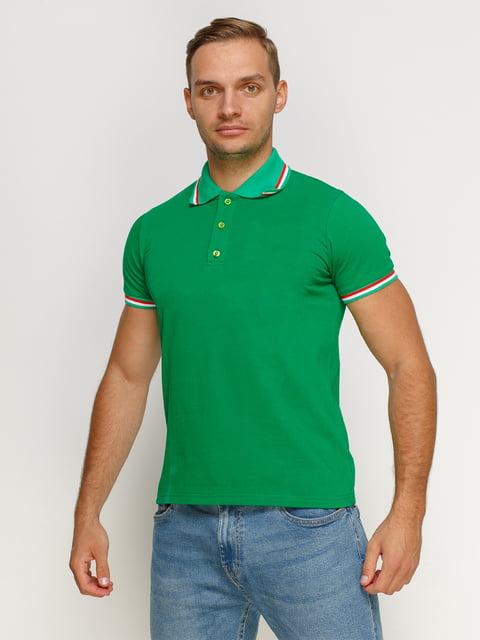 Футболка-поло зелена PrintOff 4768954