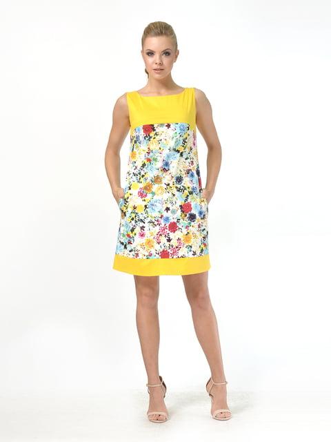 Платье желтое с цветочным принтом AGATA WEBERS 4527032