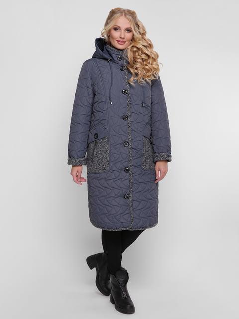 Пальто графітового кольору WELLTRE 4781717