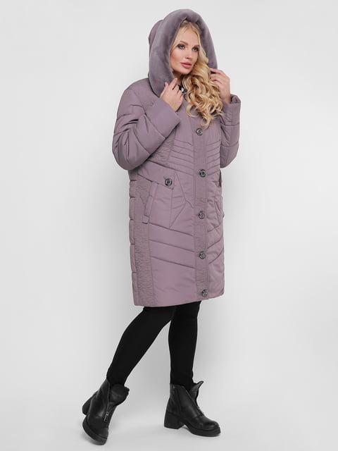 Пальто сіро-бузкове WELLTRE 4781722