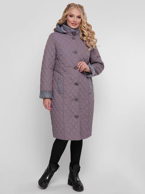 Пальто сіро-бузкове WELLTRE 4781730