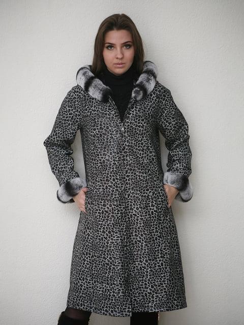 Пальто черное-белое Jakko 4782815