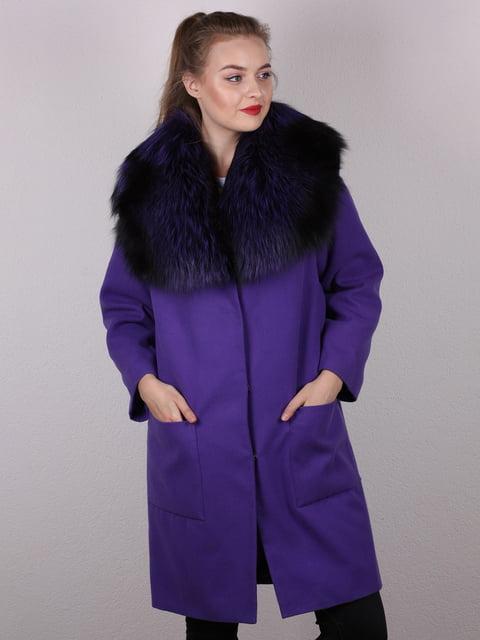 Пальто фиолетовое Verona 4782885