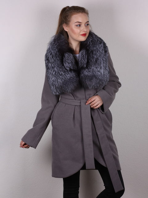 Пальто серое Verona 4782886