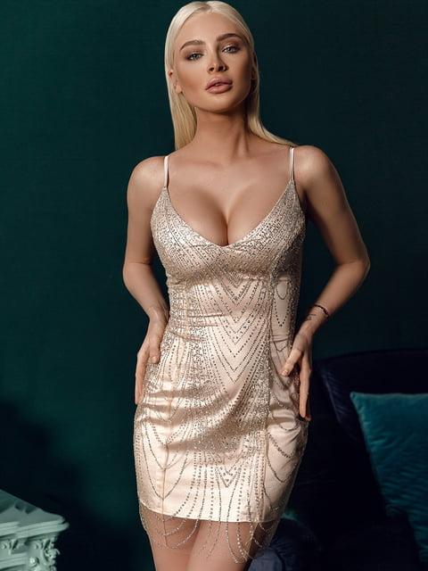 Платье бежевое Gepur 4788175
