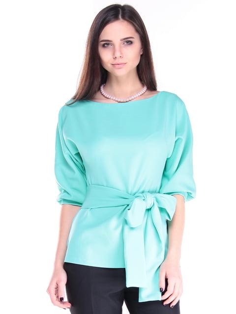 Блуза ментолового цвета Laura Bettini 4788270