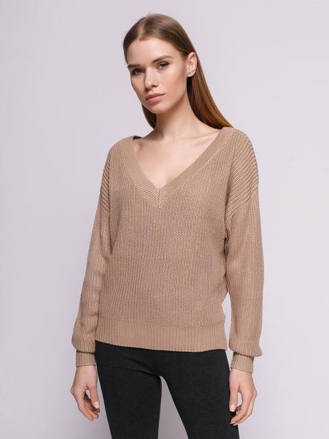 Пуловер бежевий H&M 4775657