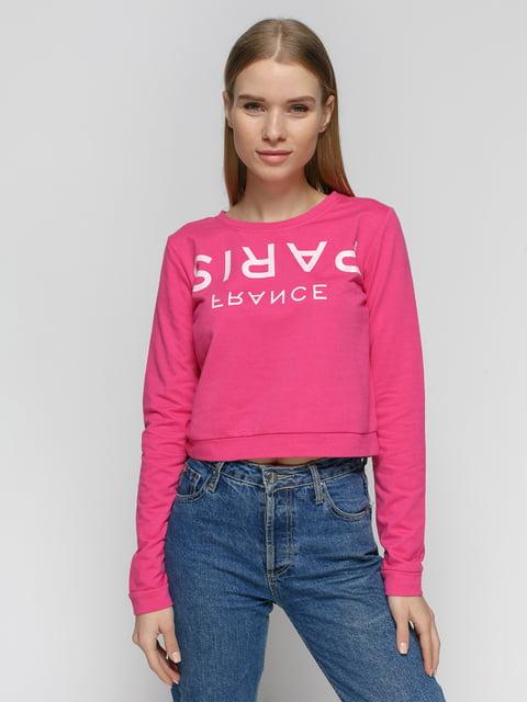 Світшот рожевий з написом Alcott 4639395
