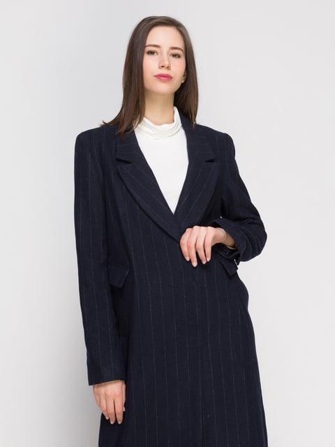Пальто темно-синее H&M 4776130