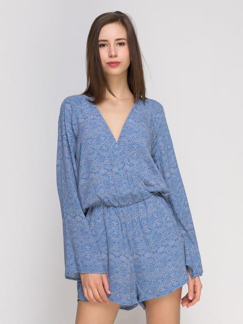 Комбинезон синий с принтом H&M 4776447