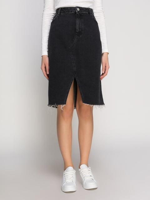 Юбка черная джинсовая H&M 4775866