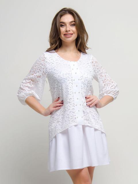 Сукня біла First Land Fashion 4788727