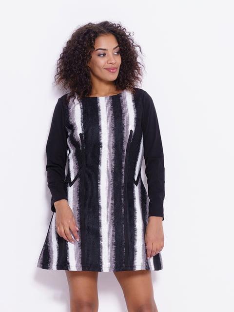 Сукня чорно-біла Magnet 4782134