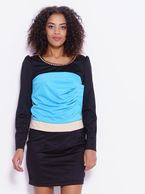 Платье черно-голубое Magnet 4793139