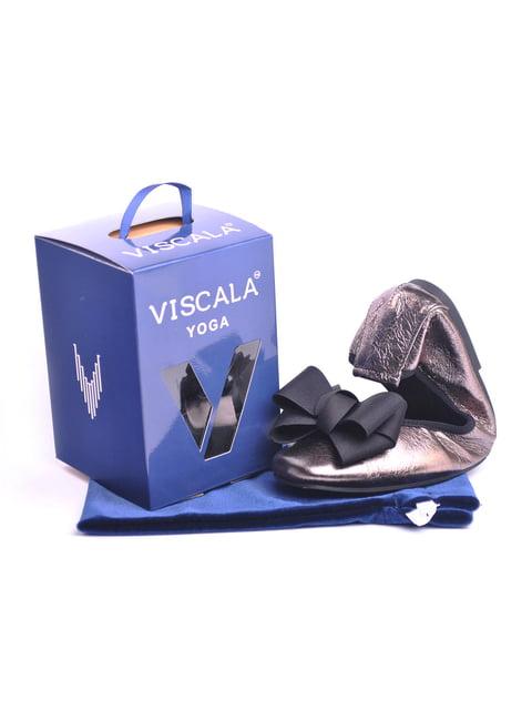 Балетки цвета платины Viscala 4793597