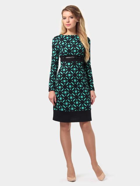 Платье сине-бирюзовое в принт LILA KASS 4794775