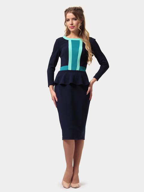 Платье сине-бирюзовое LILA KASS 4794779