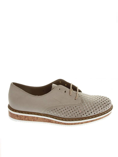 Туфли серо-бежевые Rieker 4798192