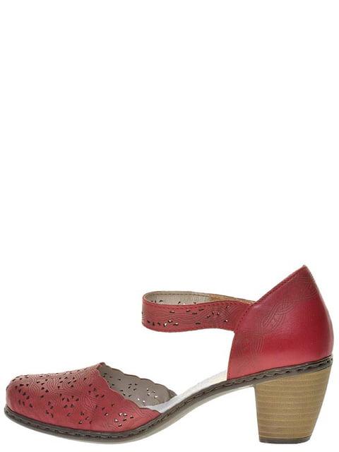 Туфли красные Rieker 4798201