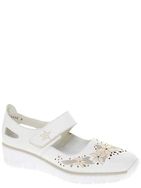 Туфли белые Rieker 4798210