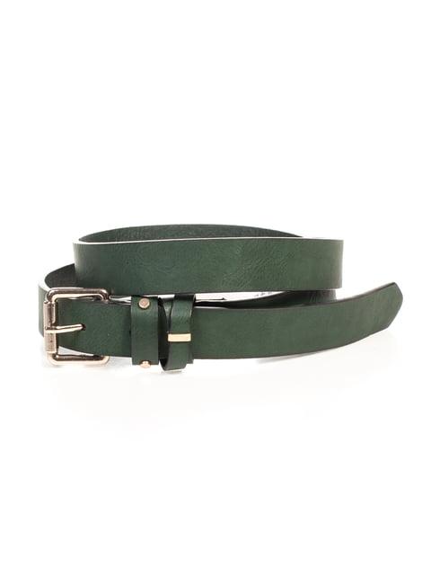 Ремінь темно-зелений Pull&Bear 4647192