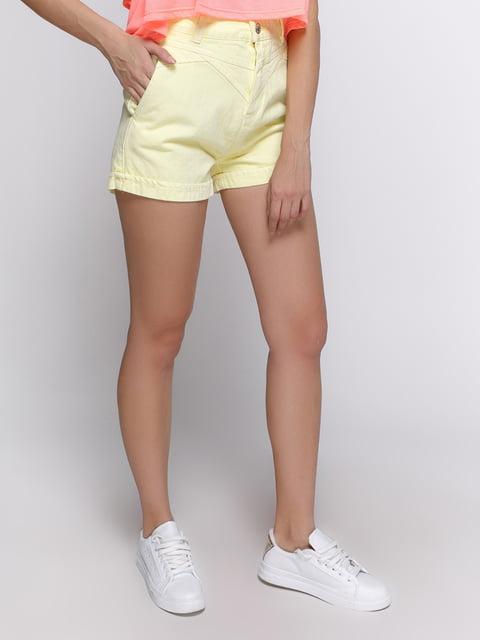Шорти лимонного кольору Pull&Bear 3568746