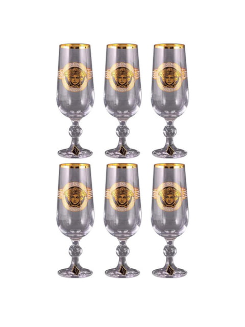 Набор бокалов шампанского «Медуза» (6 шт.) Nb art 4799843