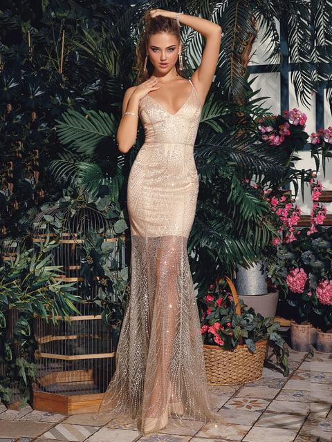 Платье золотистое Gepur 4800175