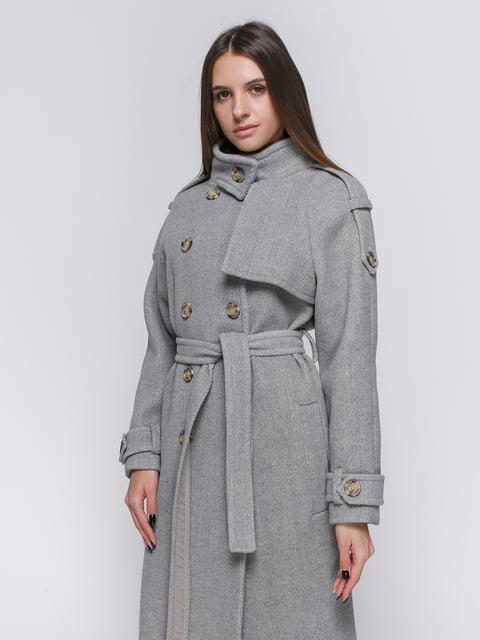 Пальто сіро-чорне Dolcedonna 4692709