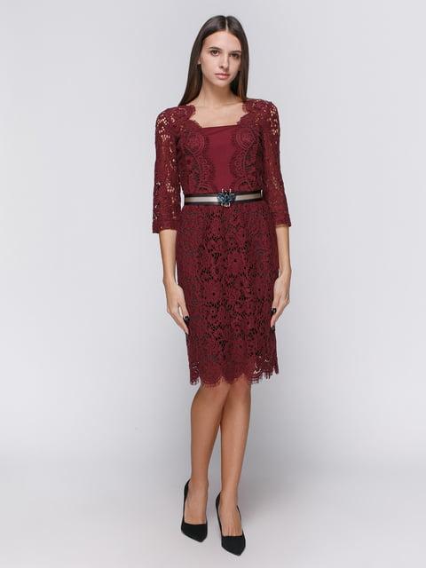 Платье бордовое Dolcedonna 4768269
