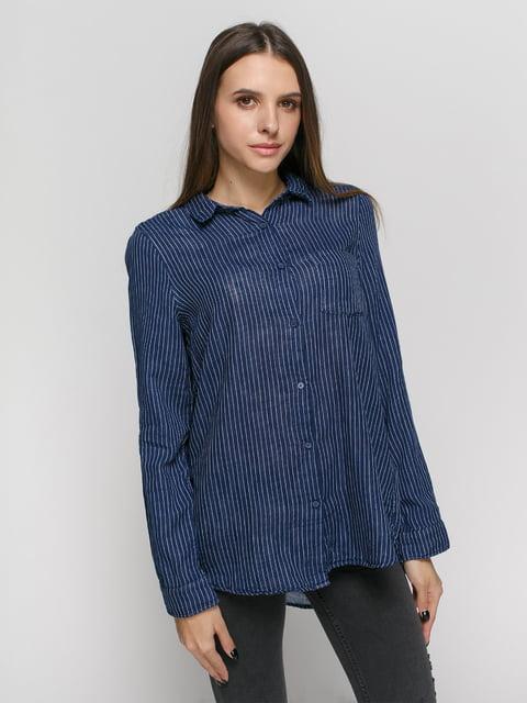 Рубашка синяя в полоску H&M 4777623
