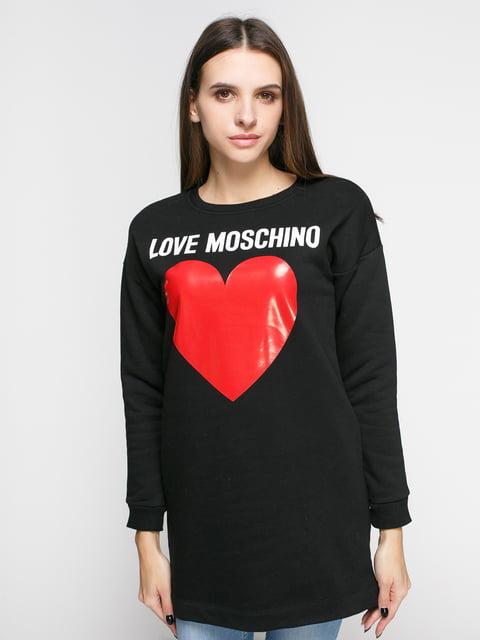 Туника черная с принтом Love Moschino 4808103
