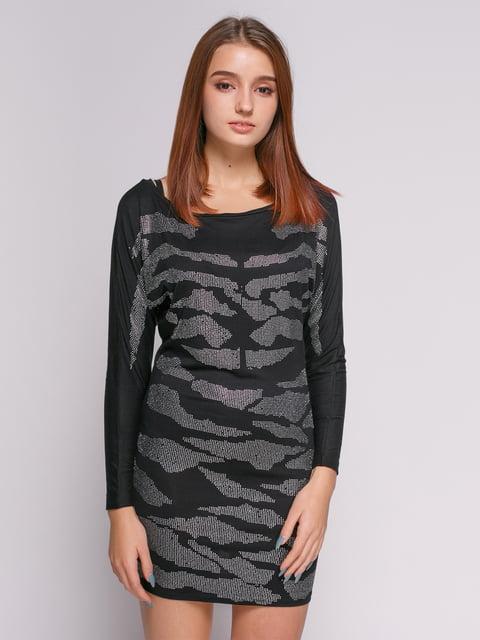 Сукня чорна з малюнком Punk Queen 377987
