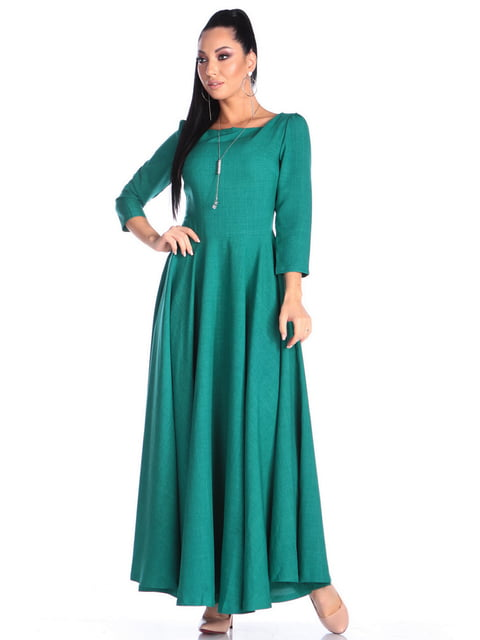 Платье темно-изумрудного цвета Victoria Loks 4706902