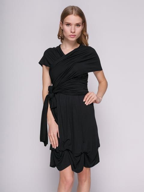 Сукня чорна з драпіруванням Punk Queen 434146