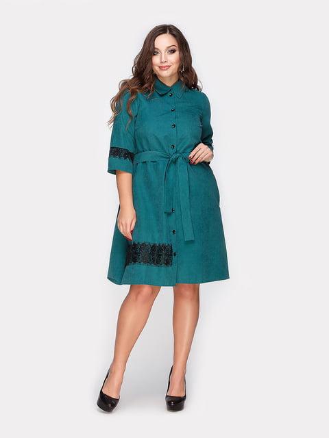 Платье изумрудного цвета Peony 4812789