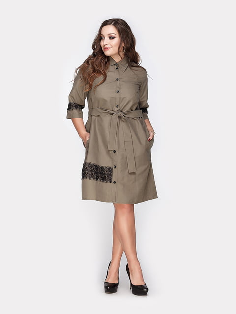 Платье цвета хаки Peony 4812793