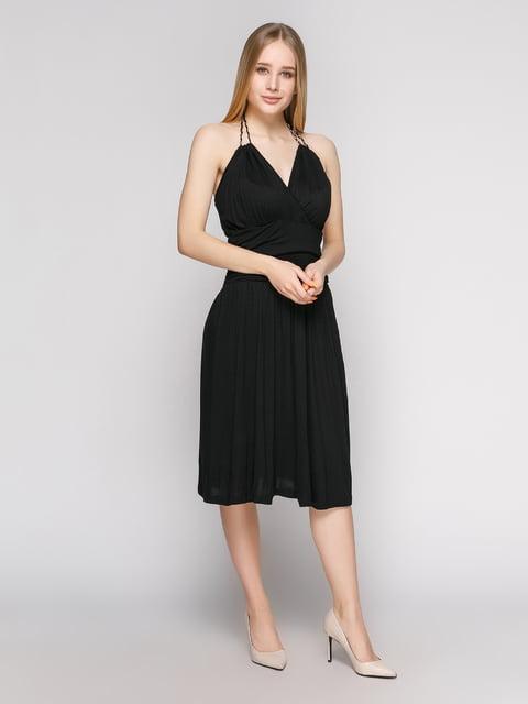 Сукня чорна із складками і бретелею-петлею Punk Queen 434157