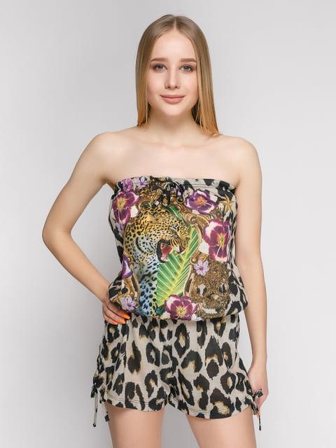 Комбинезон-бюстье комбинированной расцветки Punk Queen 377989