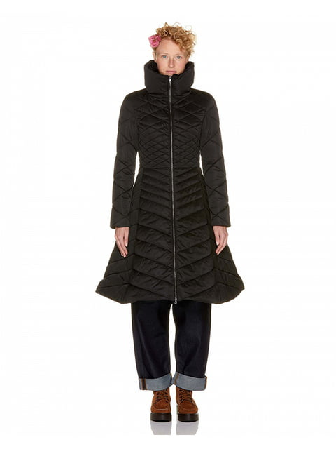 Пальто черное Benetton 4719854