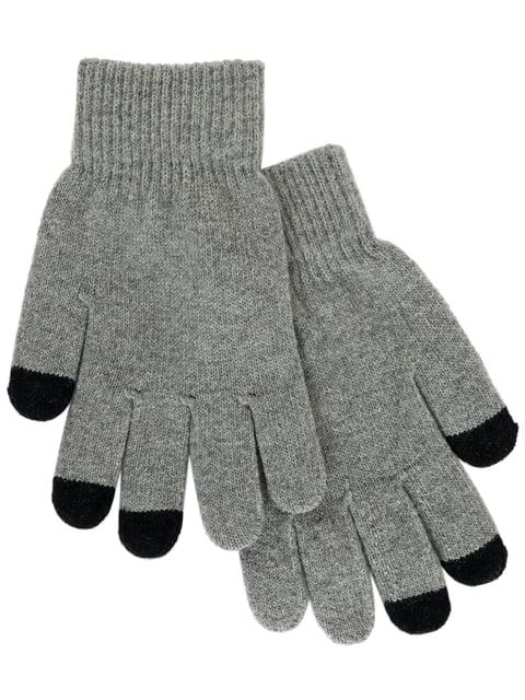 Перчатки светло-серые для сенсорных экранов Traum 4815715