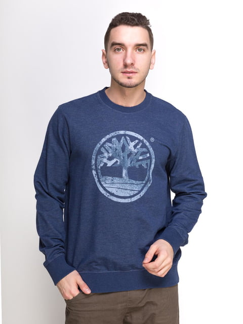 Джемпер синій з принтом Timberland 4813074