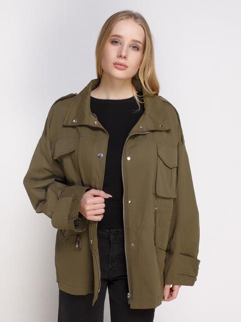 Куртка кольору хакі Mango 4790354