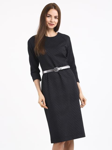 Платье черное в клетку Jet 4817083