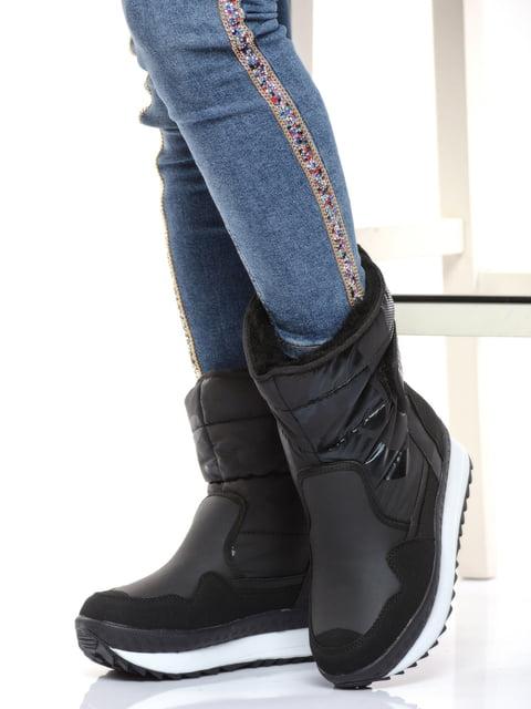 Чоботи чорні Shoes Time 4818782