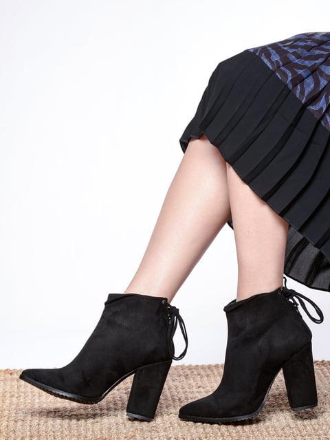 Ботильоны черные Shoes Time 4818825