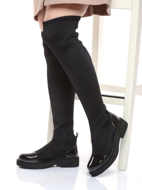 Ботфорти чорні Shoes Time 4818931