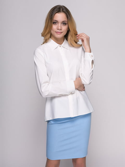 Рубашка молочного цвета Zubrytskaya 4817190