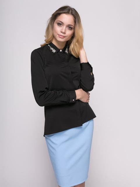 Рубашка черная Zubrytskaya 4817187